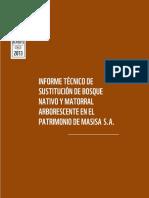 Informe Tecnico de Sustitucion de Bosque Nativo y Matorral Arborescente en El Patrimonio 1