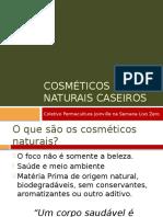 Apresentação Cosméticos Naturais Caseiros