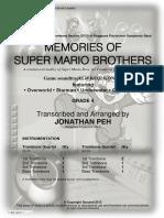 Kondo Koji Super Mario Brothers for Trombone Original Full Score Copyright 53865