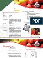 Despulpadora de Frutas d1000 Ci Talsa 09401012 2