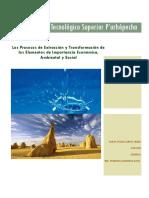 Los Procesos de Extracción y Transformación de lso Elementos de Importancia Económica, Ambiental y Social