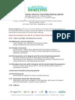 Advisory Committee Meeting Agenda