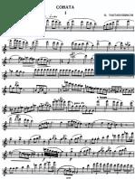 Taktakishvili Sonata for Flute and Piano
