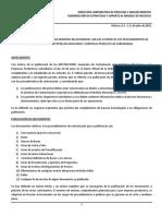 Guía Publicación de Procedimientos Contratación