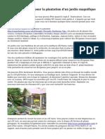 Idées optimales pour la plantation d'un jardin magnifique