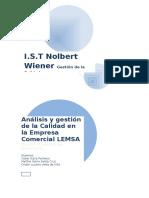 Análisis y Gestión de La Calidad en La Empresa Comercial LEMSA