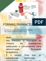 formas farmacêuticas