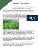 Méthodes sur la conservation d'un grand jardin