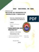 Descripcion Del Proyecto de Microelectronica