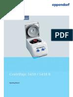 Operating Manual Centrifuge 5418 5418 R