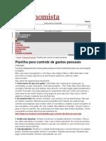 o Economist A Planilha de Gastos Pessoais 27 04 2010