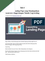 Bab 3 Membuat Landing Page Yang Mendapatkan Konversi Tinggi Dengan Teknik Copywriting