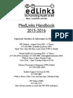 MedLinks Handbook 2015-2016