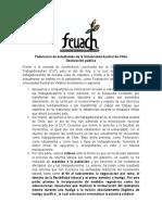 Declaracion FEUACh Frente a Movilizacion Laboral