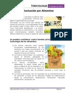 Introducción - Trabajo de Toxicologia en Los Alimentos Ook