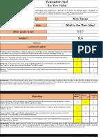 evaluation tool 2 review of nick trakas by kim