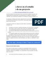 Elementos Claves en El Estudio Económico de Un Proyecto