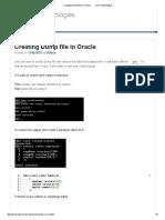 Creating Dump File in Oracle