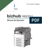 K Minolta Bizhub 163-211 User's Manual