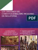 Los Origenes Del Constitucionalismo Moderno en Inglaterra