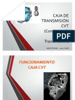 Transmision Continua Variable CVT Continuously Variable Transmision