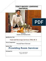 Food and Beverage Services NC II
