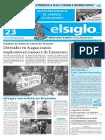 Edición Impresa Elsiglo 23-03-2016