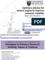 Optimize articles for search engine to improve research visibility