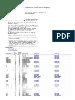 Service Name and Transport Protocol Port Number Registry