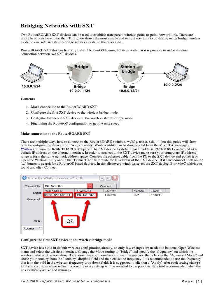 Bridging Networks With SXT - Seri 2 | Wireless Lan | Ip Address