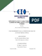 IMPLEMENTACION Y CARACTERIZACION DE LASERES DE FIBRA OPTICA ACTIVADA CON ITERBIO
