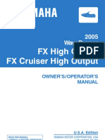 2005 Yamaha Waverunner FX High Output Operator manual