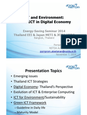 4-EEI - Green ICT in Digital Economy for Thailand | Data
