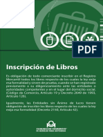 inscripcion Libros camara de comercio
