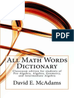 All Math Words Dictionary - 2nd Edition (2015)