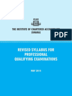 Syllabus Chartered Accountancy in Ghana
