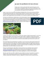 Conseils de jardinage pour les jardiniers de tous niveaux
