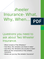 Two Wheeler Insurance- What, Why, When