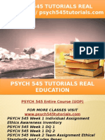 PSYCH 545 TUTORIALS Real Education - Psych545tutorials.com