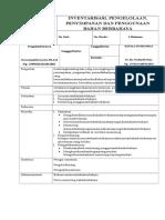Inventarisasi, Pengelolaan, Penyimpanan Dan Penggunaan Bahan Berbahaya