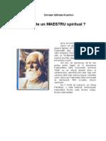 Omraam - Ce este un Maestru spiritual