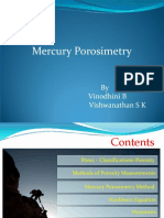 Vinodhini B. - Mercury Porosimetry