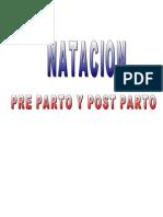 Natacion Pre-parto y Post-parto