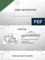 Pt3 Essay- Descriptive