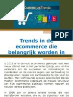 Trends in de ecommerce die belangrijk worden in 2016