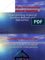 Nota Kuliah - Frameworks and Models of Teaching