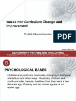 Nota Kuliah-Bases for Curriculum Change and Improvement