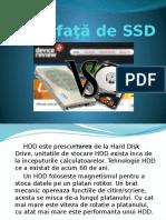 HDD faţă de SSD