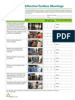 ABC Checklist Effective Toolbox Meetings English