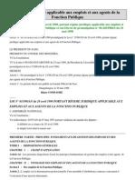 Régime juridique applicable aux emplois et aux agents de la Fonction Publique BURKINA FASO